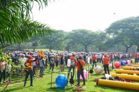 TST tourist tổ chức Team Building cho 10.000 cán bộ, nhân viên công ty Hansae