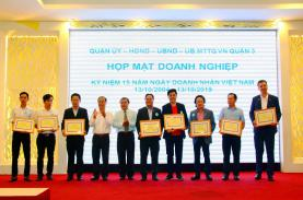 UBND Quận 3 họp mặt doanh nhân và chúc mừng ngày Doanh nhân Việt Nam