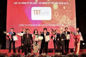 TST Tourist voted as top 10 travel companies 2017 - VietnamNet