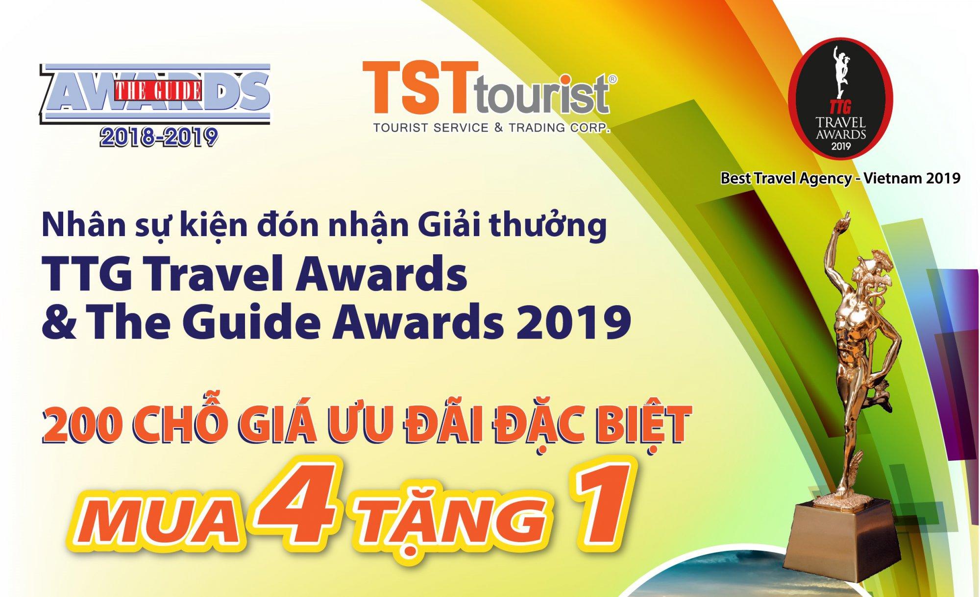 Ưu đãi đặc biệt nhân sự kiện đón nhận giải thưởng TTG Travel Awards & The Guide Awards 2019